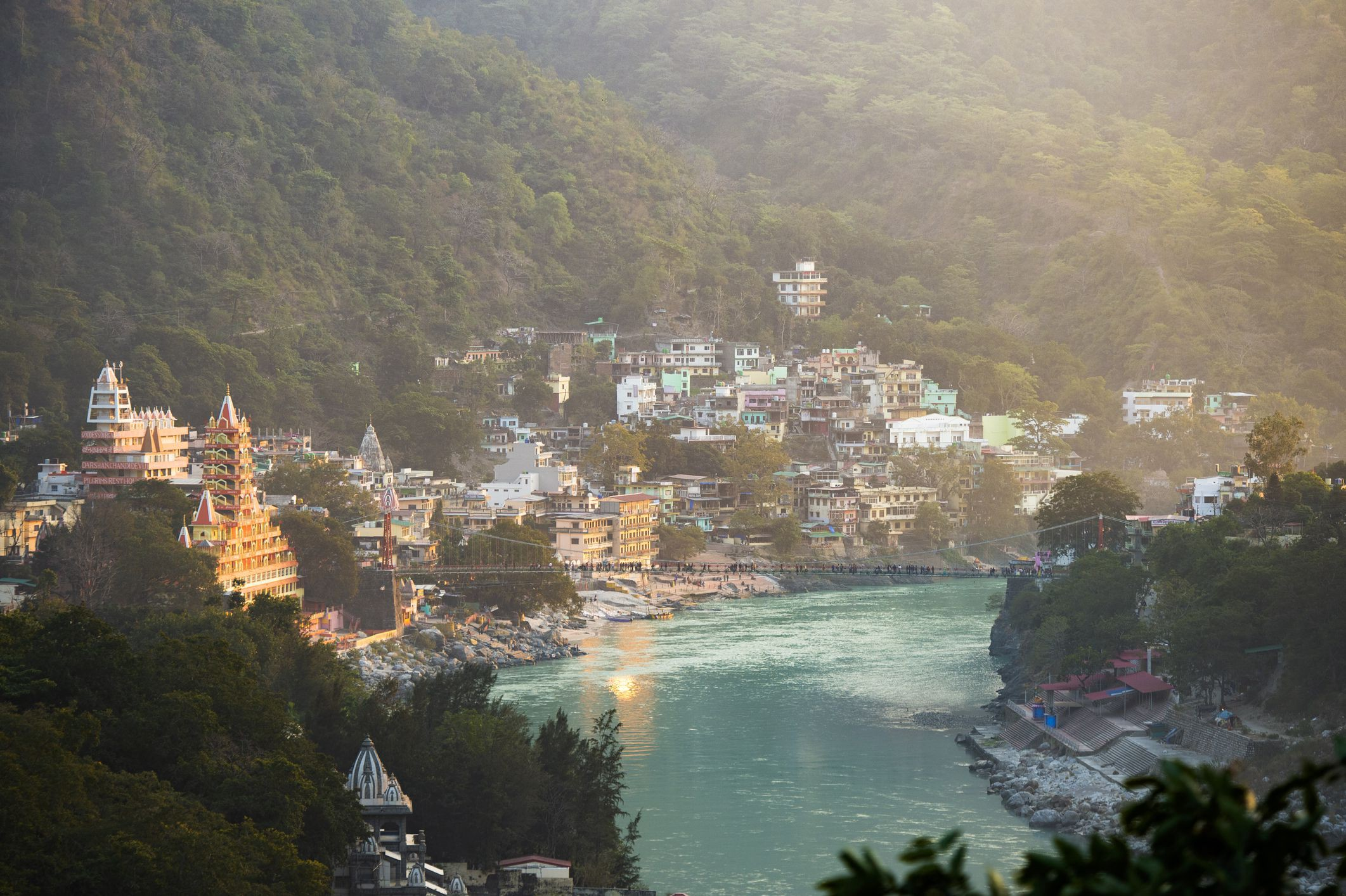 view of Rishikesh from top
