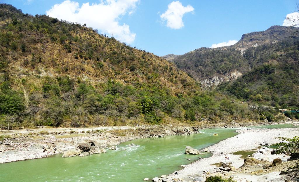 View of Ganga River in Rishikesh, India