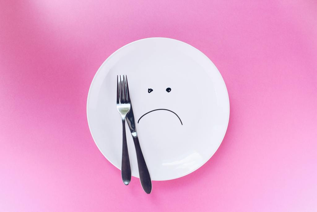 the plate is empty